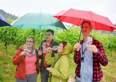 Weinprobe bei Planwagenfahrt